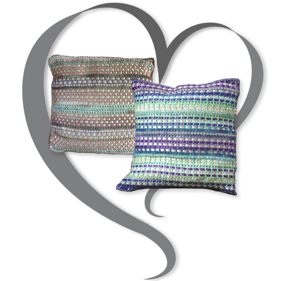 Ribbon and Pearls Pillow